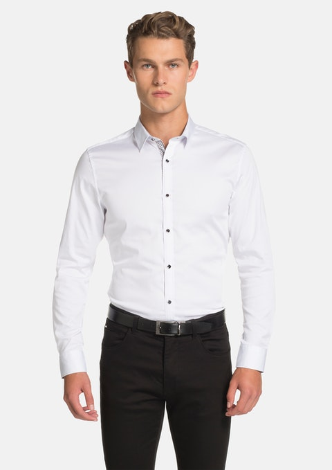 White Yolo Slim Fit Shirt
