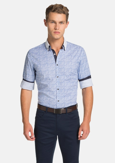 Blue Brant Slim Fit Shirt