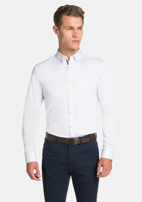 White Bale Slim Fit Shirt