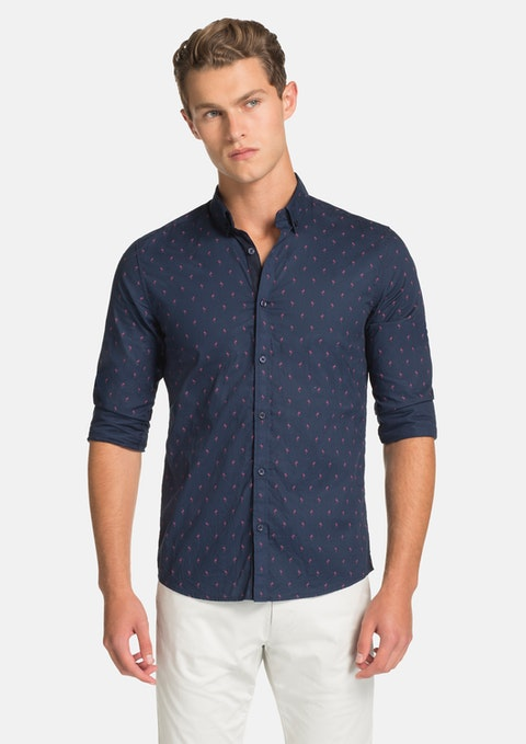 Navy Manly Slim Fit Shirt
