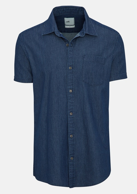Dark Blue Coltrane Ss Shirt