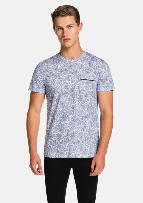 Blue Ornate Smart Tee