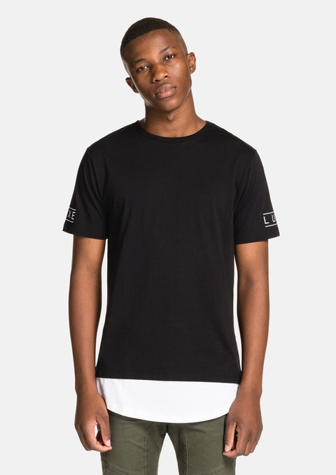 Black Scoop Street Tee