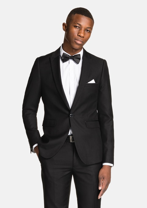 Black Parisian Machine Wash Skinny Suit
