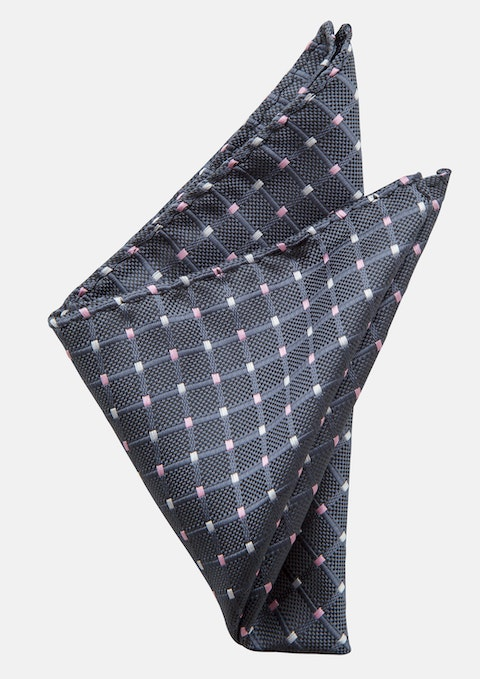 Grey Iggy Pocket Square