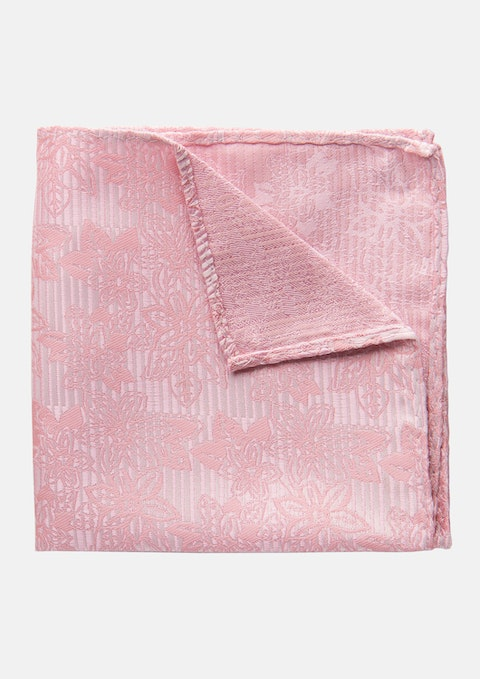 Pink Stones Pocket Square
