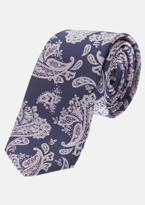 Navy/pink Otis 6.5cm Tie