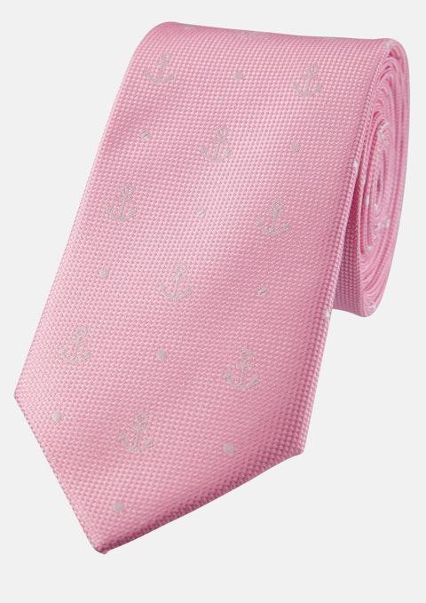 Pink Anchor 6.5cm Tie