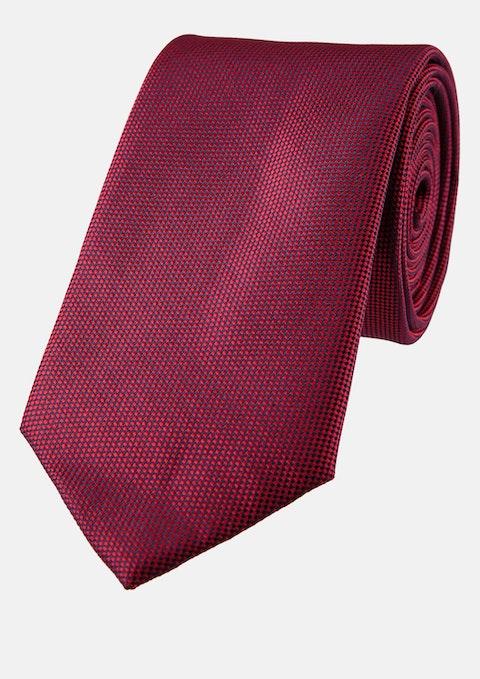 Burgundy Jones Textured 6.5cm Tie