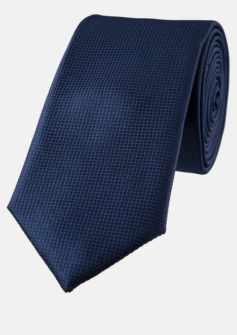 Dark Blue Lewis Textured 6.5cm Tie