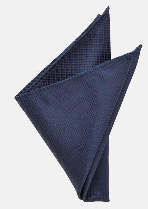 Dark Blue Lewis Textured Pocket Square