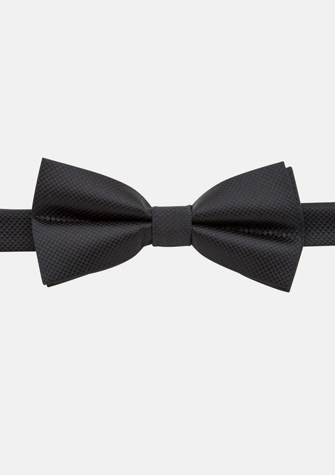 Black Lewis Textured Bowtie