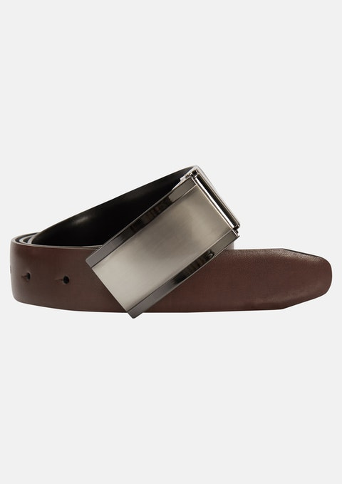 Tan/black Franklin Reverisible Belt