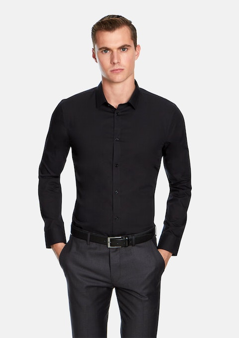 Black Non Iron Dress Shirt