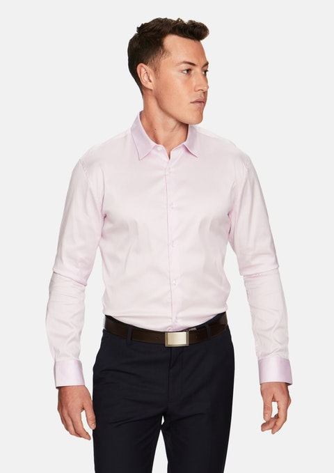 Pink Axton Slim Fit Dress Shirt
