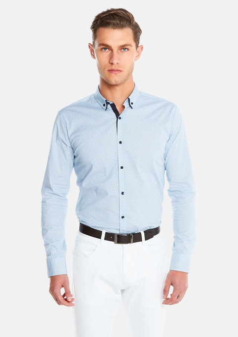 Blue Bermuda Slim Fit Shirt