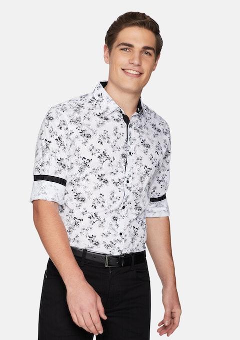 Black Botany Slim Shirt
