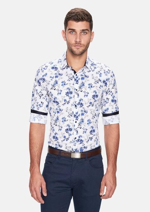 Blue Botany Slim Fit Shirt