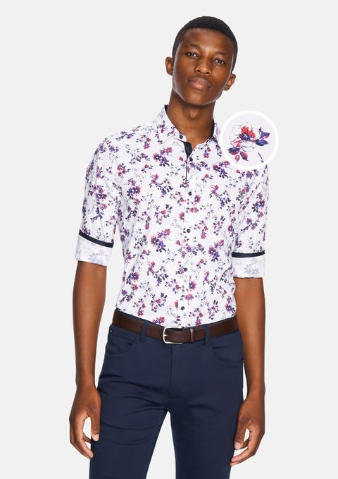 Multi Botany Slim Shirt