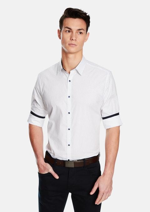 White Dice Slim Shirt
