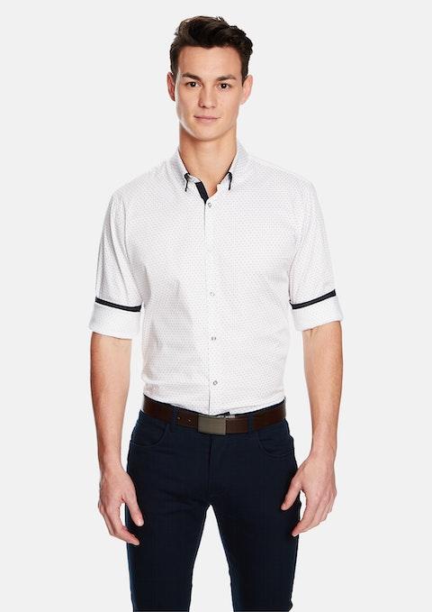 White Rivoli Slim Fit Shirt