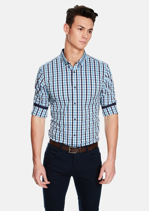Blue Benito Slim Fit Shirt