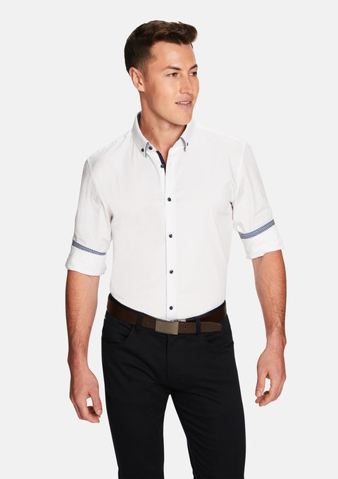White Saki Slim Shirt