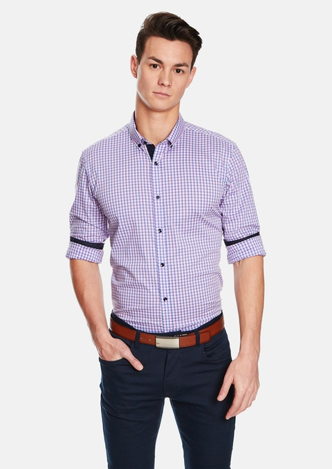 Pink Check Ciroc Slim Fit Shirt