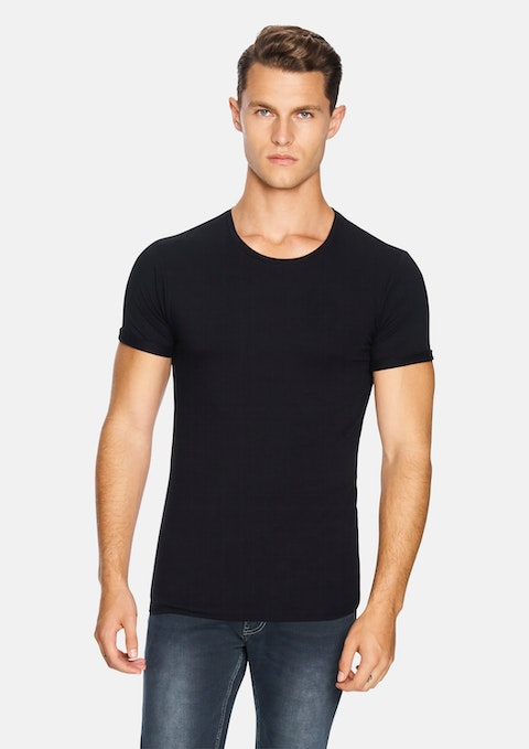 Black Muscle Basic Tee