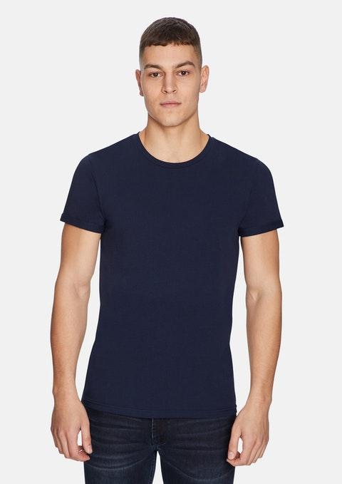 Deep Indigo Muscle Basic Tee