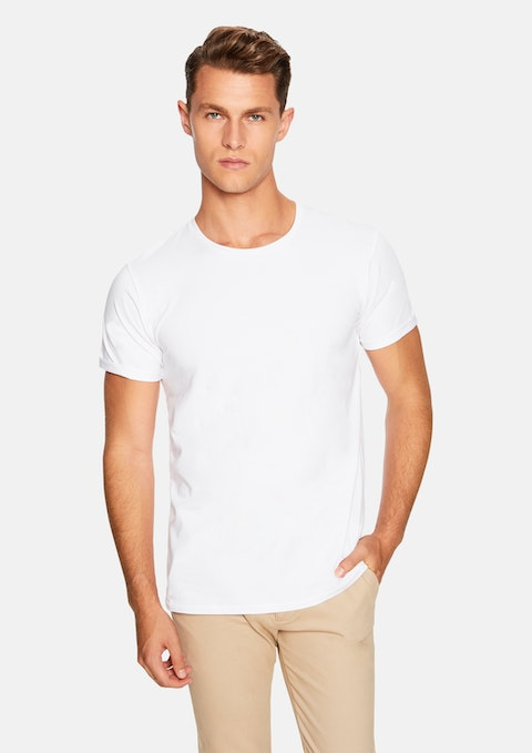 White Muscle Basic Tee