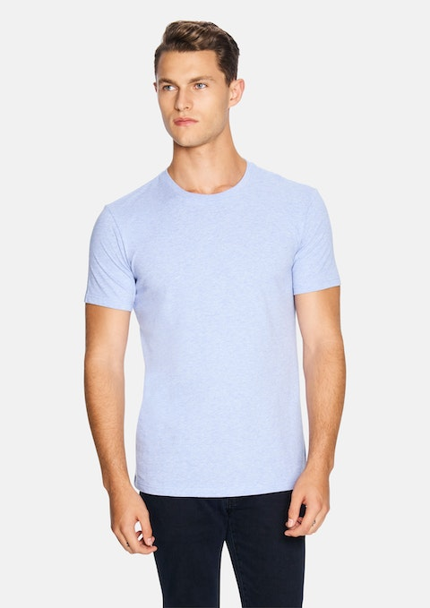Light Blue Marle Relaxed Basic Tee