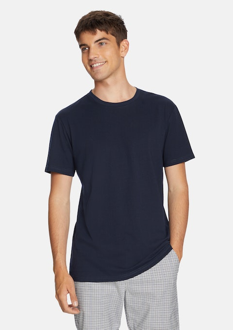 Dark Blue Relaxed Basic Tee