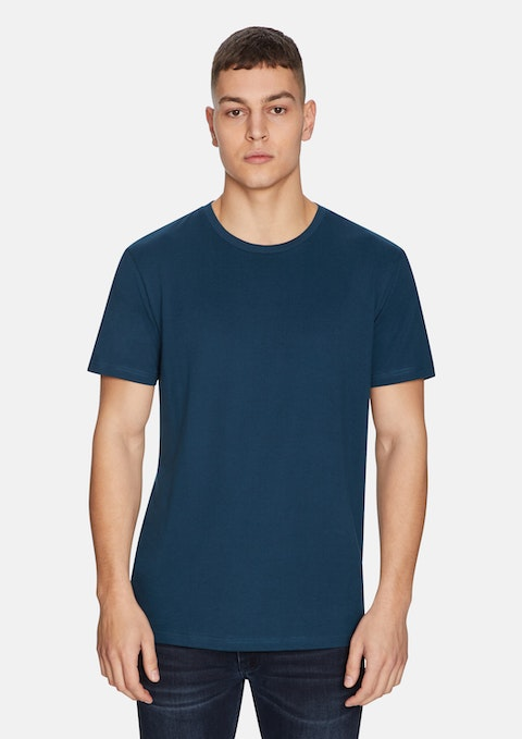 Teal Relaxed Basic Tee