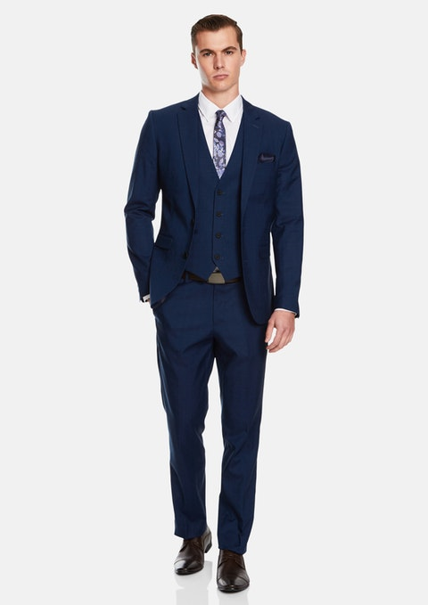Dark Blue Davis Slim Suit