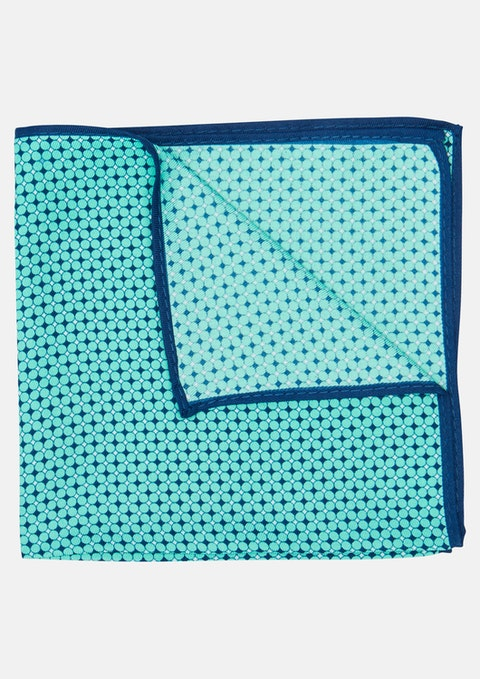 Mint Green Venice Pocket Square