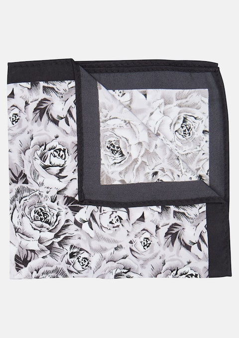 Black Barrons Pocket Square