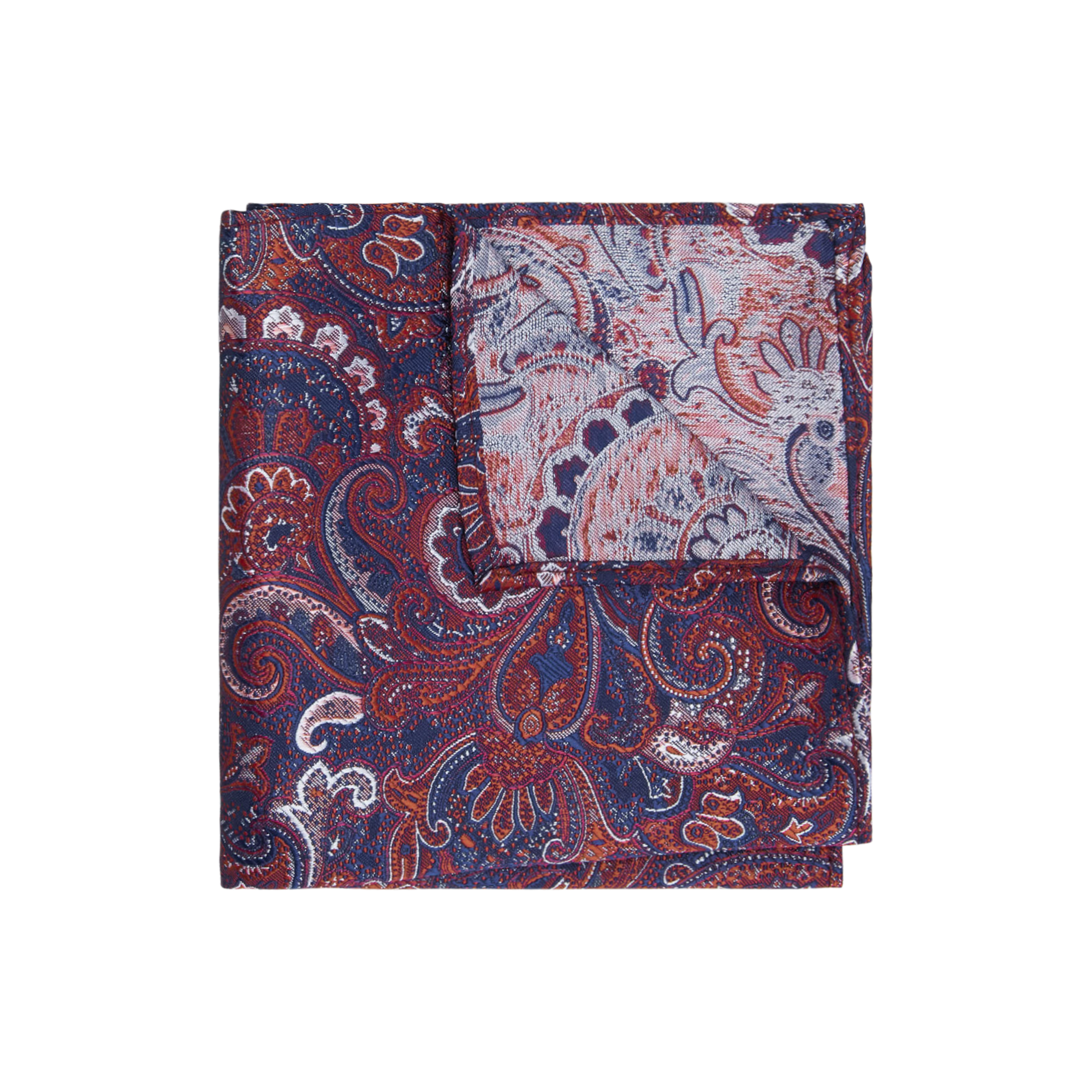 afa08477ef9b9 Red/Navy Paisley Large Paisley Pocket Square by yd. | Shop our Men's  Accessories