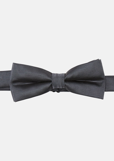 Charcoal Timothy Twill Bowtie
