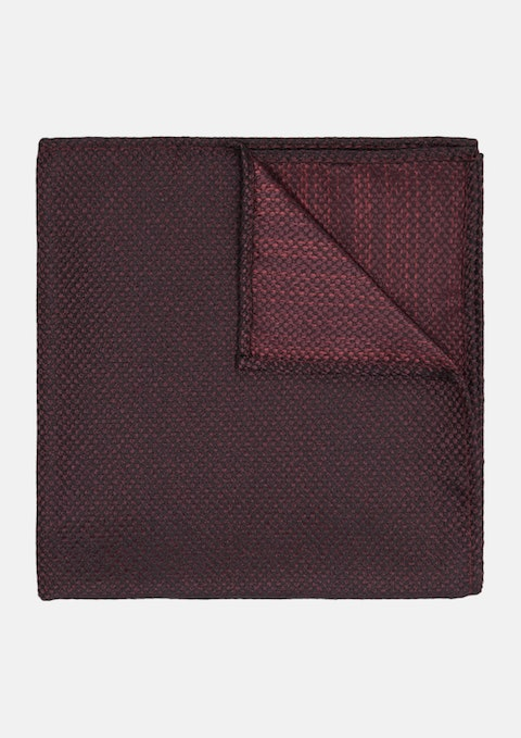 Dark Red Bruce Textured Pocket Square