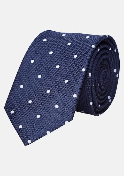 Dark Blue Scotty Spot 6.5cm Tie