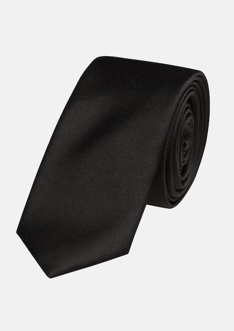 Black Plain 6.5cm Tie