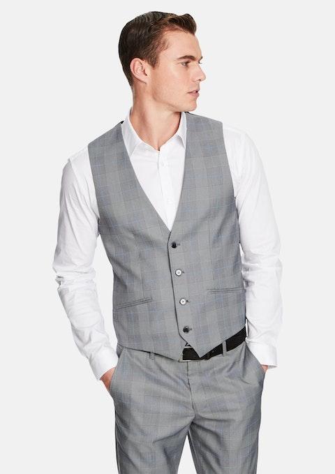 Grey Check Flynn Waistcoat