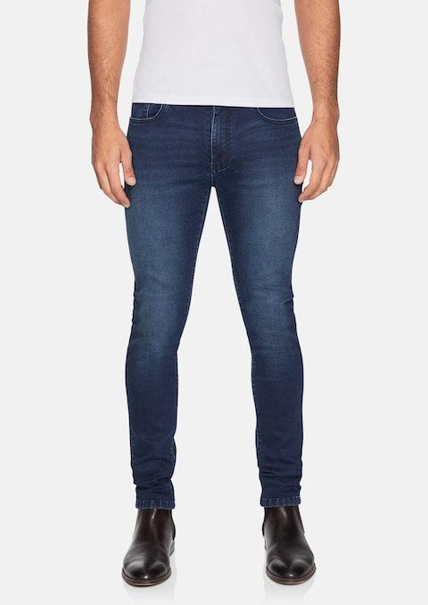 Dark Blue Nickelback Skinny Jeans