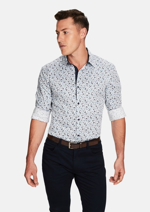 Blue Print Metro Slim Fit Shirt