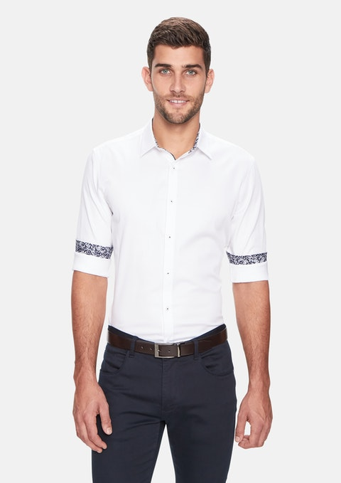 White Atlantis Slim Shirt