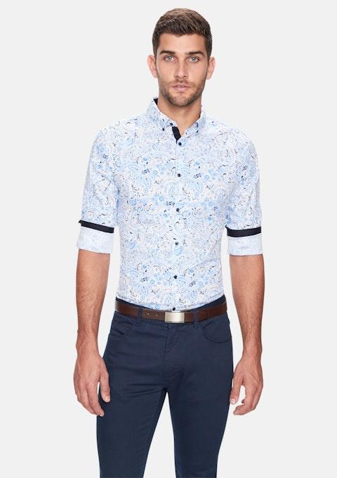 Multi Zig Paisley Slim Fit Shirt