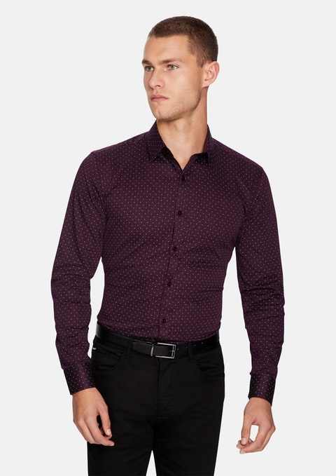 Burgundy Vita Slim Shirt