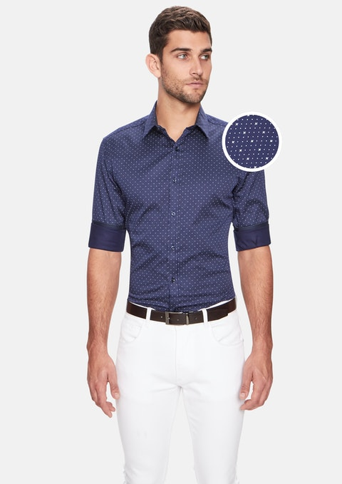 Navy Vita Slim Shirt