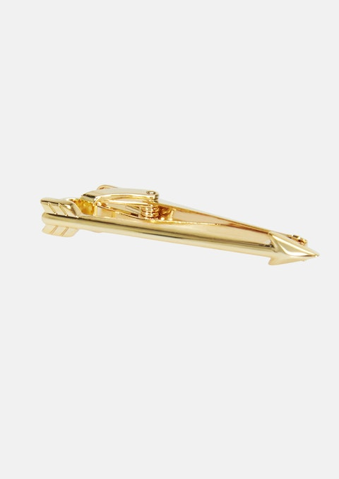 Gold Gold Arrow 5cm Tie Bar